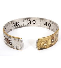 Vintage Lufkin Ruler Bangle For mathematicians and seamstresses