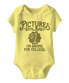 Another great find on #zulily! Banana 'Pictures With Baby' Bodysuit #zulilyfinds