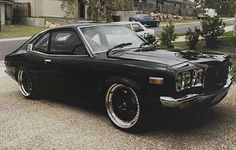 Hot Wheels - Not much better then a sweet Mazda rx3 coupe in black, wicked! #Mazda #rotary #rx3 #carporn #stance #13b #brapbrap #lowfastfamous