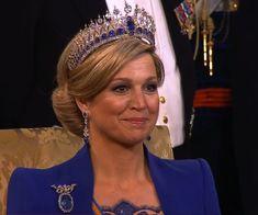 QUEEN MAXIMA wearing the Mellorio sapphire tiara