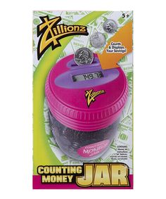 Love this Zillionz Counting Money Jar by Zillionz on #zulily! #zulilyfinds