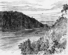 Blondin Walked Across Niagara Falls By Tightrope: View of the Tightrope
