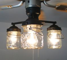 8 budget ceiling fan makeovers idea box by taradaramadeit diyin to ceiling fan light kit vintage canning jar mason jar chandelier lighting fixture flush mount pendant farmhouse kitchen track lamp goods aloadofball Images