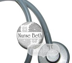 Stethoscope ID Tag Personalized with Your Name.