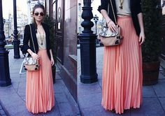 Maxi skirts foreverrr -- Touch of pink (by Anna Sidorenko) http://lookbook.nu/look/3349341-touch-of-pink