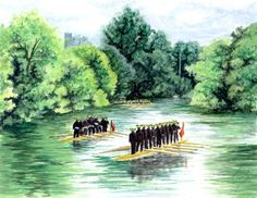 Procession of Boats, Eton by Wabbit-t3h.deviantart.com
