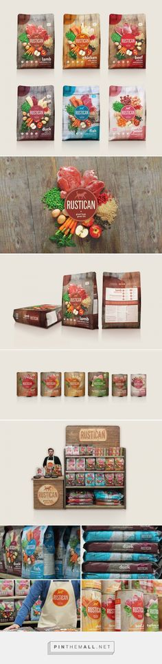 Rustican Pet Food by Izvorka Jurić (Idea, Art Direction, Design). Source: The Dieline. Pin curated by #SFields99 #packaging #design #inspiration #ideas #photography #typography #range #color #bag #pet #food #dog #creative #product #consumer