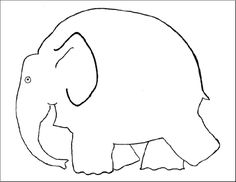Template for Elmer the Elephant Painting Craft