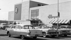 Greater Hamilton Shopping Center 1950's Old Pictures, Old Photos, Hamilton Ontario Canada, Dundas Ontario, Waterloo Ontario, Site History, Twin Cities, Vancouver, Retail Stores