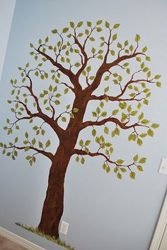 baby's room with a tree