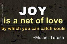 Be joyous.