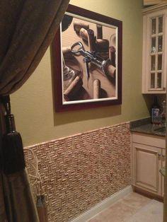 Corcho a #corcho, puedes conseguir este efecto en la pared de tu cocina #Decoración #Sostenibilidad