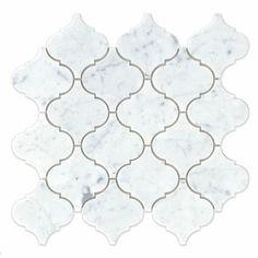 flooring trends Bedrosians Marble x Mosaic Tile in White Carrara Ceramic Mosaic Tile, Stone Mosaic Tile, Marble Mosaic, Carrara Marble, Backsplash For White Cabinets, Bathroom Cabinets, Wood Look Tile, Luxury Vinyl Plank, Decorative Tile