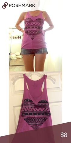 🎀 Forever 21 Heart Tank Slightly worn but good condition Forever 21 Tops Tank Tops