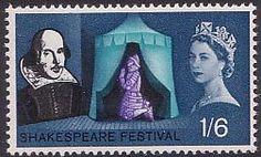 Shakespeare Festival 1s6d Stamp (1964) 'Eve of Agincourt' (Henry V)