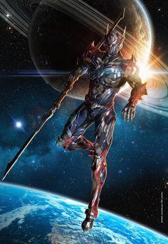 21 super ideas for fantasy art knight anime Robot Concept Art, Armor Concept, Fantasy Armor, Dark Fantasy Art, Fantasy Character Design, Character Art, Warframe Art, Space Knight, Character Illustration