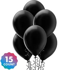 Black Pearl Balloons 15ct Party City