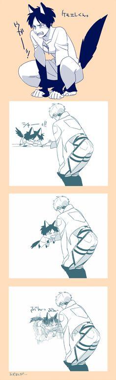 Attack On Titan (Shingeki no Kyojin) Eren and Jean // AoT