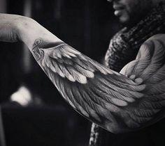 Wing tattoo art by UnknownArtist