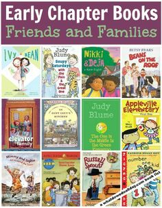 A diverse collection of early chapter books starring groups of friends or family members. Good choices for #summerreading