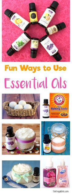 22 Creative Ways to Use Your Essential Oils! So many fun DIY tips for salts, scrubs, homemade cleaners, and more! | TheFrugalGirls.com