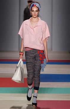 Marc By Marc Jacobs Spring 13 Ready to Wear    So laid back and thrown together perfectly looks like they weren't trying too hard. Something almost anyone could pull off. Super chic.