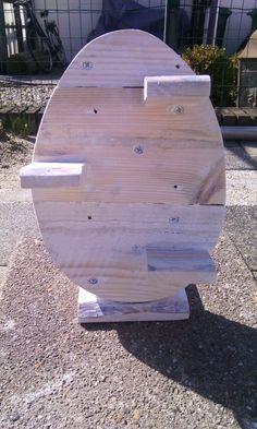 Maak dit houten paasei zelf van steigerhout om zelf te maken ei van steigerhout pasen - Deco kamer truc ...