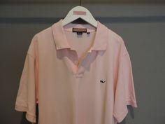 Vineyard Vines Designer Light Pink Cotton Mesh Whale Polo Shirt SZ XL Mint    #VineyardVines #PoloRugby
