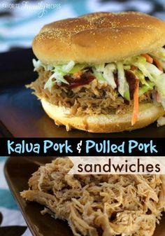 This Kalua pork tastes just like the luau pork at the Polynesian Cultural Center! #kaluapork #kaluaporksandwich