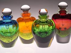 Jewel Tone Perfume Bottles: Laurie Thal