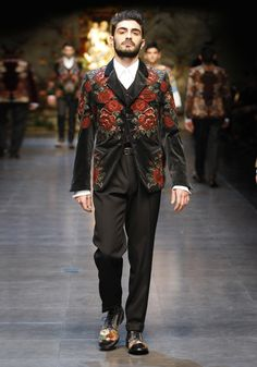 Dolce & Gabbana Man Runway Show – Fall Winter 2014 - Man Collection Fashion Show.Runway of the Metropol Theatre in Milan.