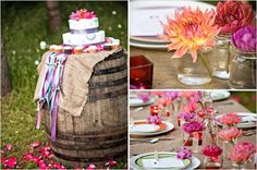 Outdoor rustic summer wedding