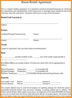 Month To Month Rental Agreement Form  Rental Agreement
