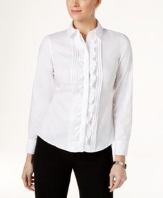 TOMMY HILFIGER Tommy Hilfiger Ruffled Front Shirt.  tommyhilfiger  cloth    tops Ruffle Shirt 763d1a9e2