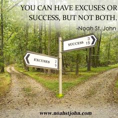 You can have excuses or success, but not both.