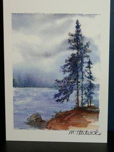 Original watercolour of Northern Ontario