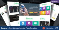 cool Renova - Startup App Landing Page Template