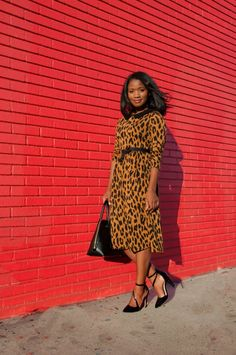 Downtown Demure: A Modest Fashion and Christian Lifestyle Blog   That Leopard Dress by Dainty Jewell's (Doesn't she look great?!)