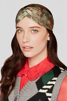 5095cb6819c Gucci - Tiana printed duchesse-silk headband