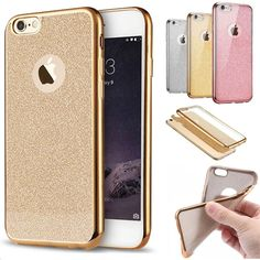 Luxury Shiny Glitter Powder ShockProof Plating Gilded Soft Silicone TPU Cover For iPhone 7 7 Plus Bling Fundas Case MN004 MN005