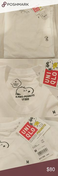 NEW KAWS x Peanuts Uniqlo Snoopy T shirt 100% Authentic NEW with tags KAWS x Peanuts x Uniqlo Snoopy white T shirt. Purchased in Japan. Uniqlo Shirts Tees - Short Sleeve