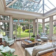 Find home projects from professionals for ideas & inspiration. Orangery with Bi-fold Doors by Vale Garden Houses Patio Interior, Interior Design, Sunroom Decorating, Sunroom Ideas, Decorating Ideas, Sunroom Furniture, Furniture Design, Relaxation Room, Relaxing Room
