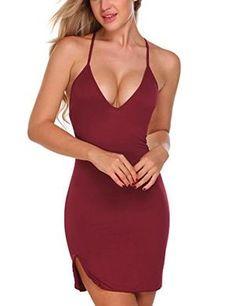 Sleepwear Women V Neck Chemise Nightgown Lace Lingerie Full Slip Dress 214a57fda