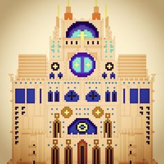 #magicavoxel #cathedral #lego #architecture #building #isometric #3d #render #pixelart #buildings #speedbuild #medieval