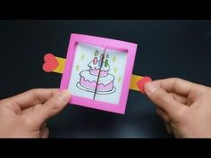 DIY Pop-up Greeting Card for birthday 3d Cards, Cards Diy, Diy Paper, Paper Crafts, Christmas Makes, Birthday Greeting Cards, Craft Tutorials, Christmas Crafts, Make It Yourself