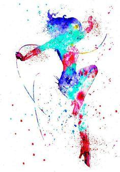 Colorful Wonder Woman artwork