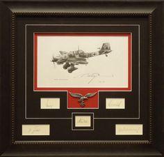 Custom framed WWII plane. #militaryframing #customframing #memories