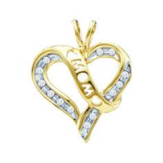 "Jewelcology - 0.12CTW DIAMOND  ""MOM"" PENDANT (""GND-18421""), $116.00 (http://jewelcology.com/0-12ctw-diamond-mom-pendant-gnd-18421/)"