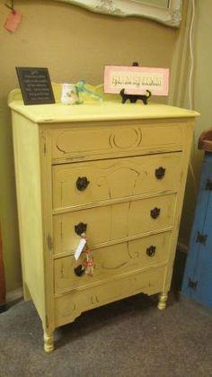 Charlotte: FABULOUS yellow dresser $100 - http://furnishlyst.com/listings/59169