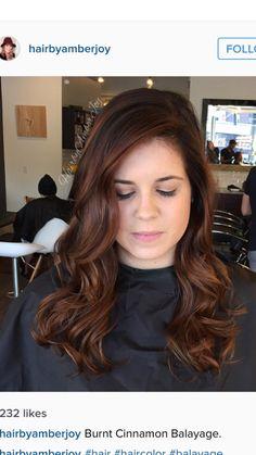 Great looking rose gold auburn balayage Hair Color Auburn, Auburn Hair, Brown Hair Colors, Cinnamon Hair Colors, Gorgeous Hair Color, Balayage Hair, Auburn Balayage, Haircolor, Hair Color And Cut